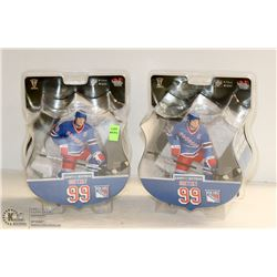 2PK OF WAYNE GRETZKY NY RANGERS HOCKEY FIGURINES