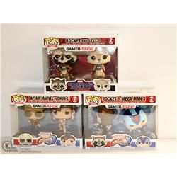 BUNDLE OF 3 MARVEL GAMERVERSE 2PC FUNKO POP