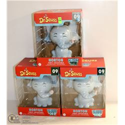 3PK OF DORBZ XL FUNKO VINYL FIGURINES; DR. SEUSS