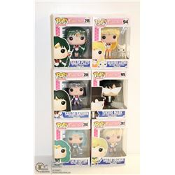 6PK OF ASSORTED FUNKO POPS; SAILOR MOON VARIETY