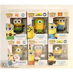 6PK OF ASSORTED FUNKO POPS; DESPICABLE ME &