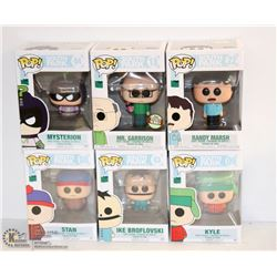 6PK OF ASSORTED FUNKO POPS;  SOUTH PARK PACK