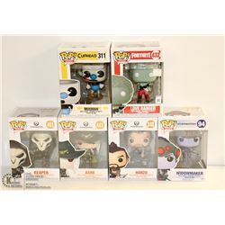 6PK OF ASSORTED FUNKO POPS; GAMES VARIETY PACK
