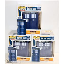 3PK OF DOCTOR WHO FUNKO POPS; TARDIS