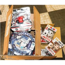 LARGE BOX OF ASSORTED DEFECTIVE NHL FIGURINES