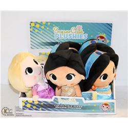 6PK OF SUPER CUTE PLUSHIES; ASSORTED DISNEY PRINCESSES