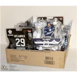 FLAT OF 6 NYLANDER LTD ED MAPPLE LEAFS NHL FIGURINES