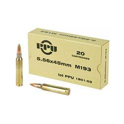 PPU 556NATO M193 55GR FMJ - 20 Rds