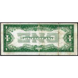 1928A $1 Funnyback Silver Certificate Inverted Back ERROR Note