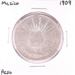 1909 Mexico Un Peso Silver Coin