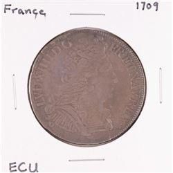 1709 France Louis XIV ECU Silver Coin