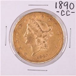 1890-CC $20 Liberty Head Double Eagle Gold Coin