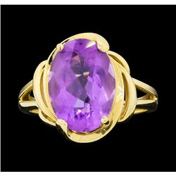 14KT Yellow Gold Ladies 7.00 ctw Amethyst Ring