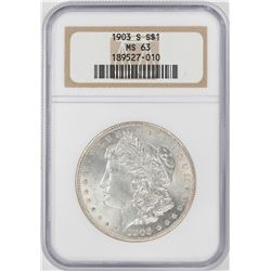 1903-S $1 Morgan Silver Dollar Coin NGC MS63