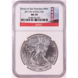 2011-(S) $1 American Silver Eagle Coin NGC MS70