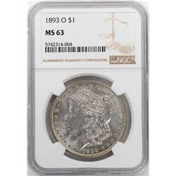 1893-O $1 Morgan Silver Dollar Coin NGC MS63