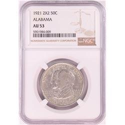 1921 Alabama 2x2 Centennial Commemorative Half Dollar Coin NGC AU53