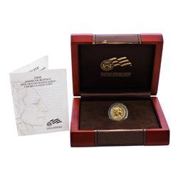 2008-W $5 Proof American Buffalo 1/10 oz. Gold Coin w/ Box & COA