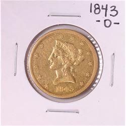 1843-O $10 Liberty Head Eagle Gold Coin