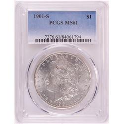 1901-S $1 Morgan Silver Dollar Coin PCGS MS61