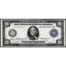 1914 $20 Federal Reserve Note San Francisco