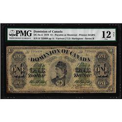 1878 $1 Dominion of Canada Note DC-8e-ii PMG Fine 12 Net