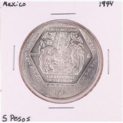 1994 Mexico 5 Pesos Silver Coin