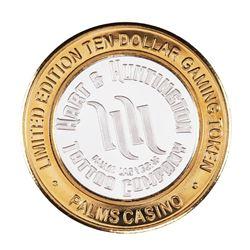 .999 Silver Palms Casino Las Vegas Nevada $10 Limited Edition Gaming Token