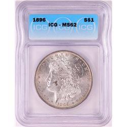 1896 $1 Morgan Silver Dollar Coin ICG MS62