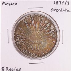 1874/3 Overdate Mexico 8 Reales Silver Coin
