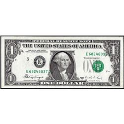 1988A $1 Federal Reserve Printing Shift ERROR Note