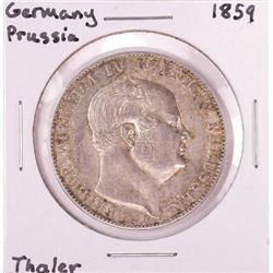 1859 Germany Prussia 1 Thaler Silver Coin