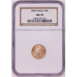2003 $5 American Gold Eagle Coin NGC MS70