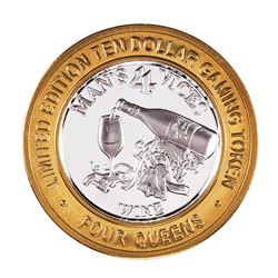 .999 Fine Silver Four Queens Las Vegas, NV $10 Limited Edition Gaming Token