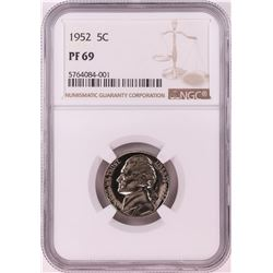 1952 Proof Jefferson Nickel Coin NGC PF69