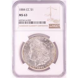 1884-CC $1 Morgan Silver Dollar Coin NGC MS63