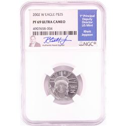 2002-W $25 Proof American Platinum Eagle Coin NGC PF69 Ultra Cameo Jeppson Signature