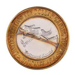 .999 Silver Union Plaza Las Vegas, Nevada $10 Casino Limited Edition Gaming Token
