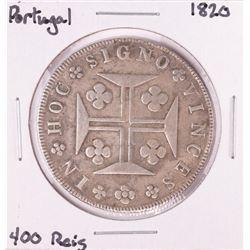 1820 Portugal 400 Reis Silver Coin