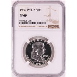 1956 Type 2 Proof Franklin Half Dollar Coin NGC PF69