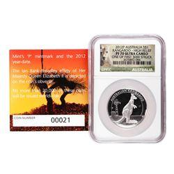 2012P Australia $1 High Relief Kangaroo Silver Coin NGC PF70 Ultra Cameo