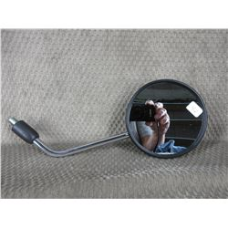 Black Plastic Motorcycle Mirror on Chrome Rod