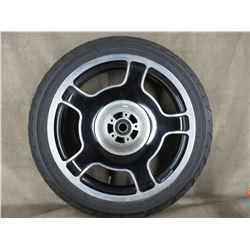 130/70B18 M/C 63H Dunlop D408F H-D Front Tire on H-D Wheel