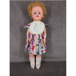 Vintage Talking Doll,  Eyes Close, Talking, 22 in tall