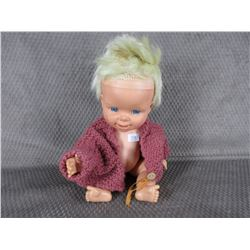 Vintage Doll, 13 in tall Feed and Pee with Tear ducts