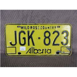 Single Alberta No Year License Plate