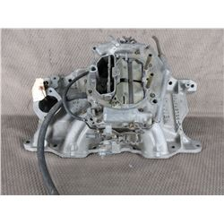 Small Block Dodge Weiand X-CELERATOR # 7510 & Carb