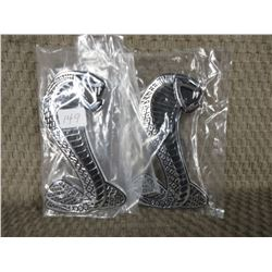 Set of 2 Plastic Cobra Stick-on Emblems