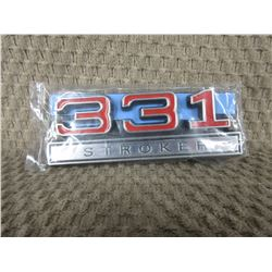 Set of 2 Plastic 331 Stroker Stick-on Emblems