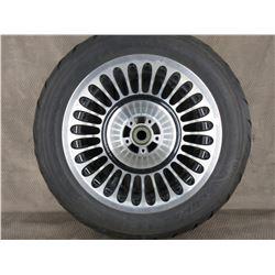 Used 180/85B168 M/C 81H Cobra H-D Front Tire on H-D Wheel T16X5.00 MT